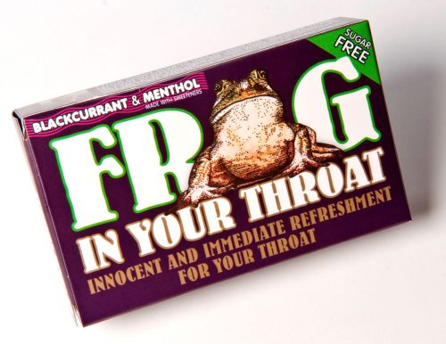 Frog in your throat lozenges blackcurrant and menthol