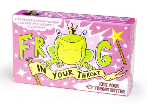 'Frog In Your' Throat Strawberry and Cream Lozenges with Glycerine