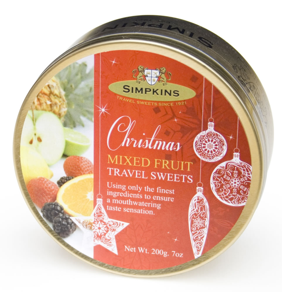 Christmas Bauble Mixed Fruit Travel Sweets