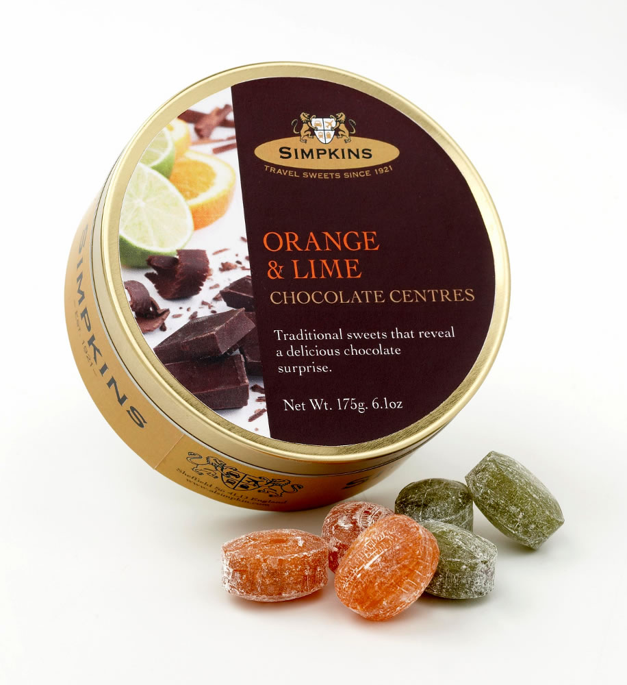 Simpkins Chocolate Orange and Lime Travel Sweets