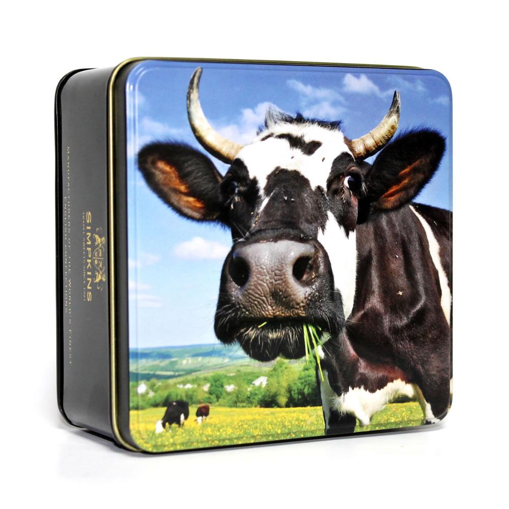British Farmyard Cute Cow Gift Tin