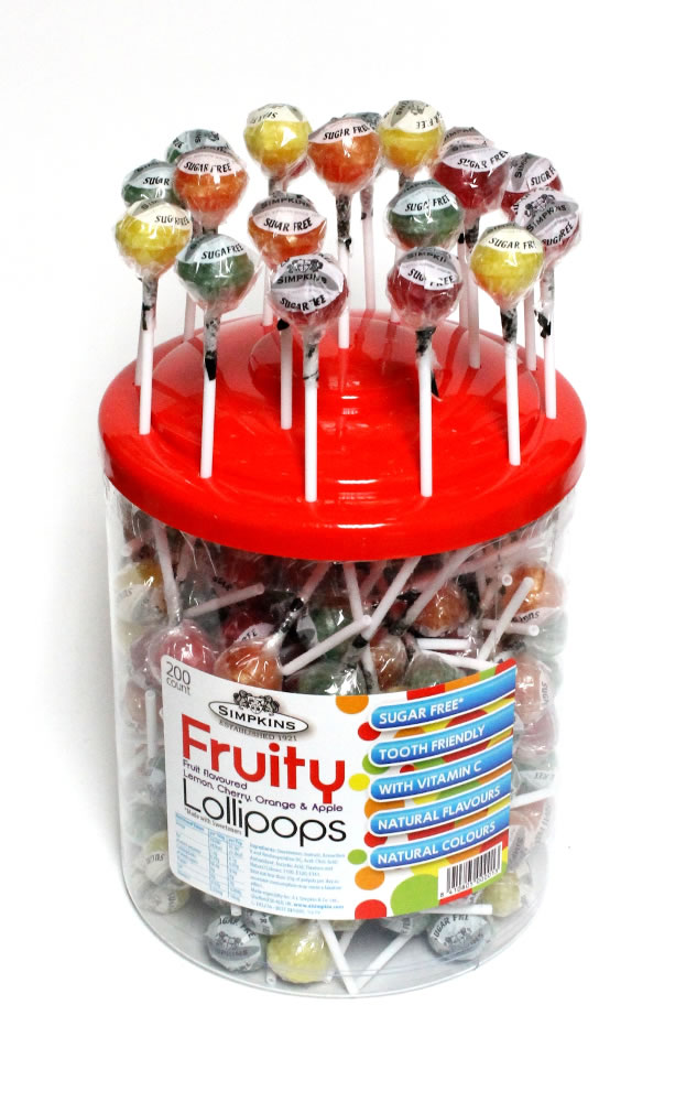 Sugar Free Lollipops with Vitamin C - 200 Tub