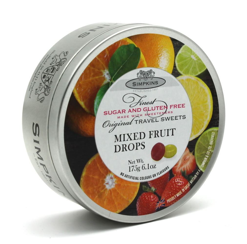 Simpkins Sugar and Gluten Free Mixed Fruit Travel Sweets