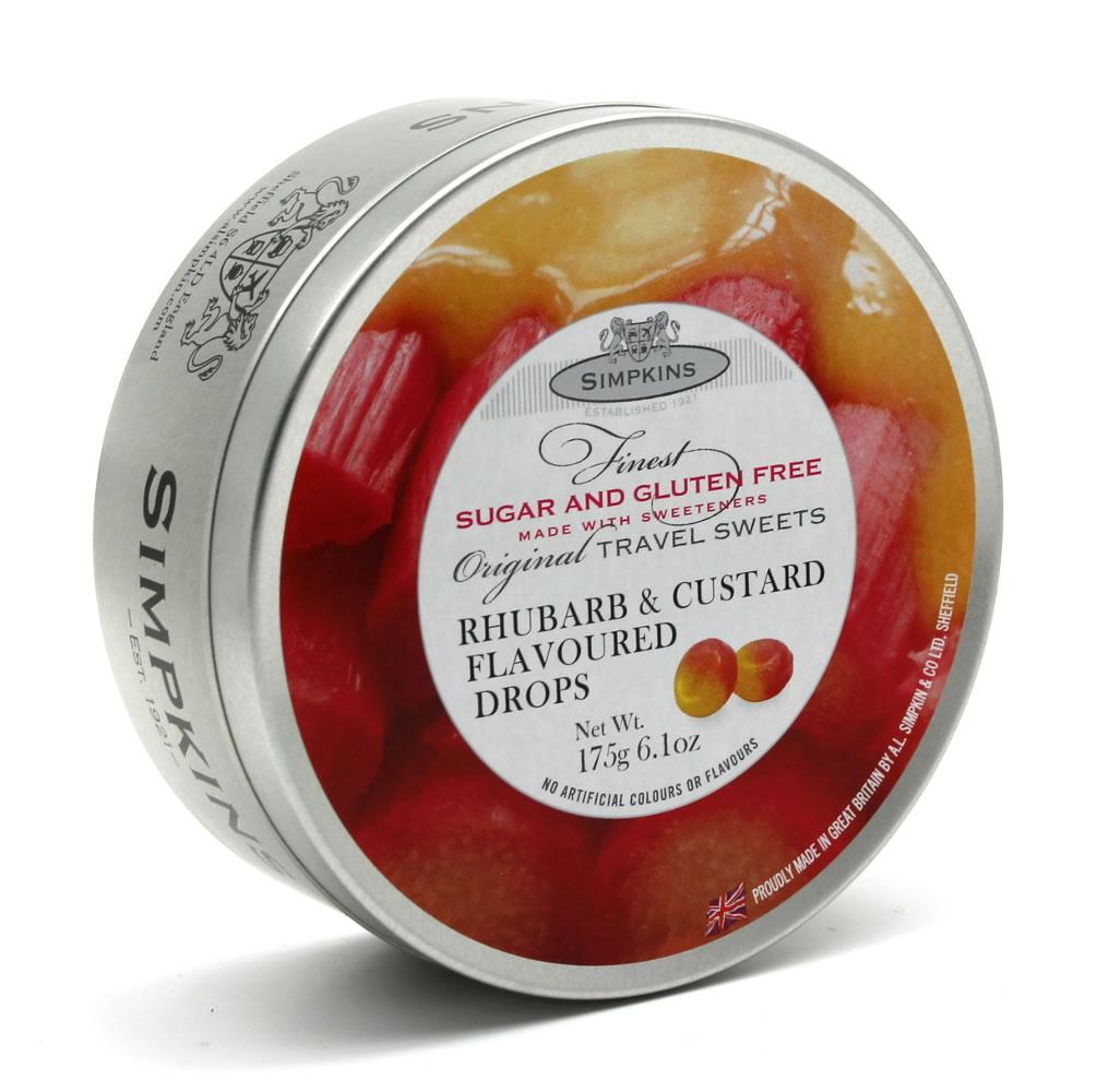 Simpkins Sugar Free and Gluten Free Rhubarb and Custard Travel Sweet