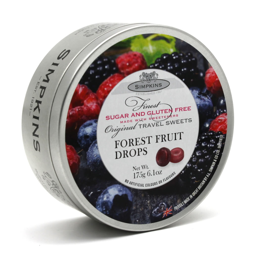 Simpkins Sugar Free and Gluten Free Forest Fruit Drops