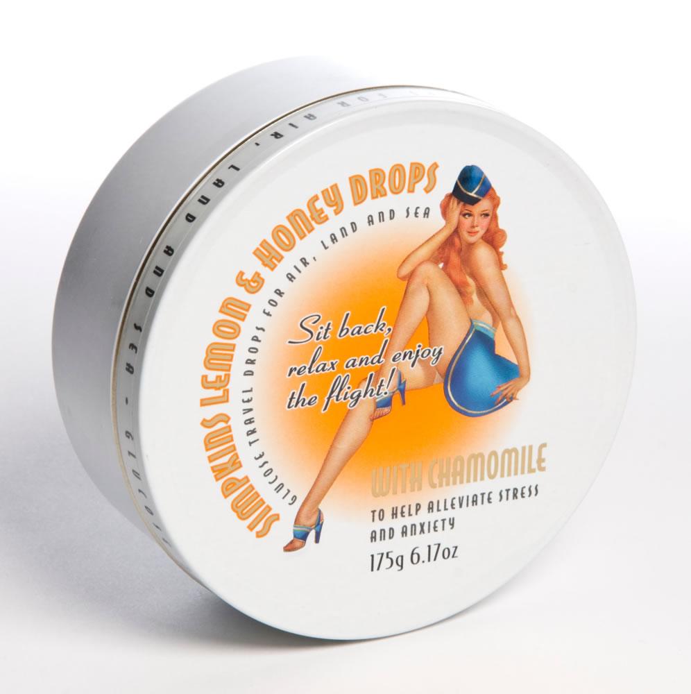 Simpkins Lemon Honey and Chamomile Retro Travel Tin