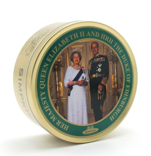 HM Queen Elizabeth II and HRH Prince Philip the Duke of Edinburgh Travel Tin