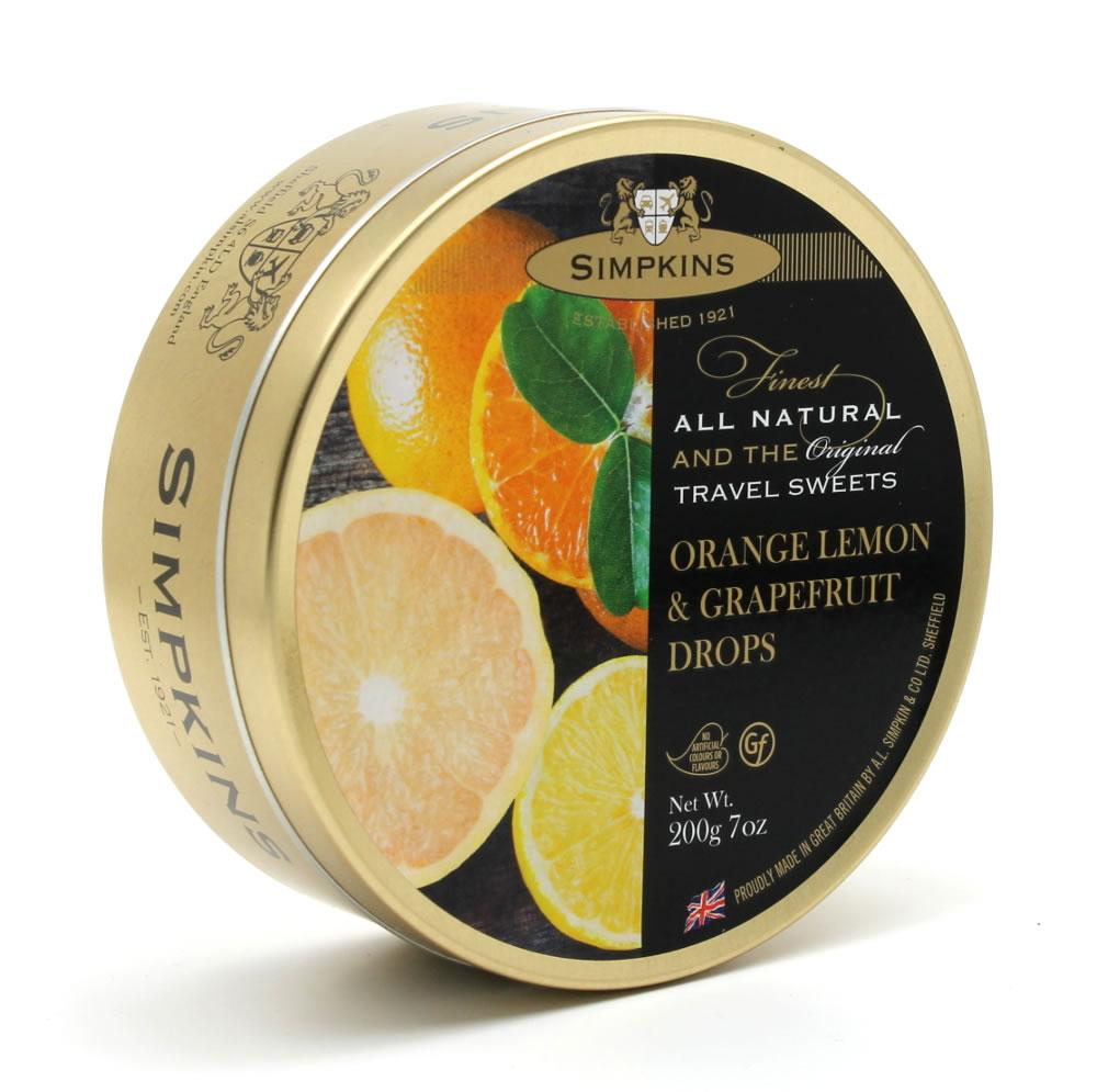 Simpkins Orange Lemon and Grapefruit Drops