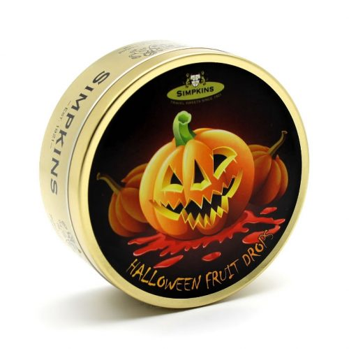 Mixed Fruit Drops Halloween Pumpkin Tin