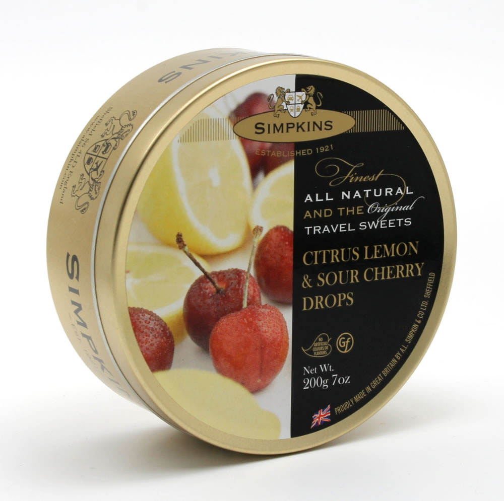 Simpkins Citrus Lemon and Sour Cherry Drops