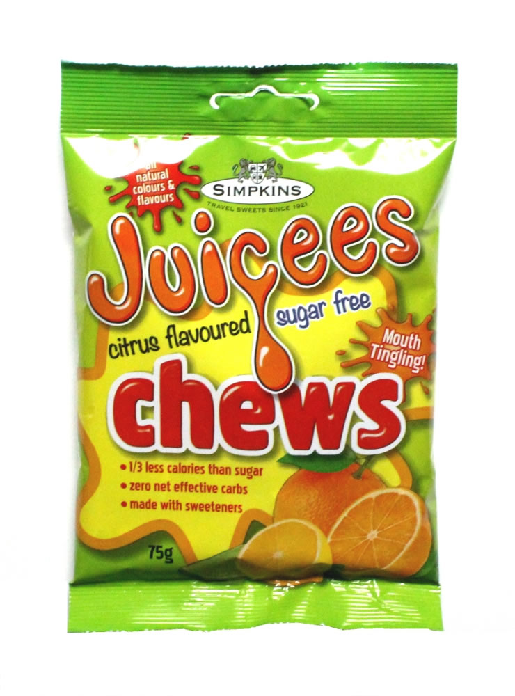 JUICEES Sugar Free Citrus Fruit Chews