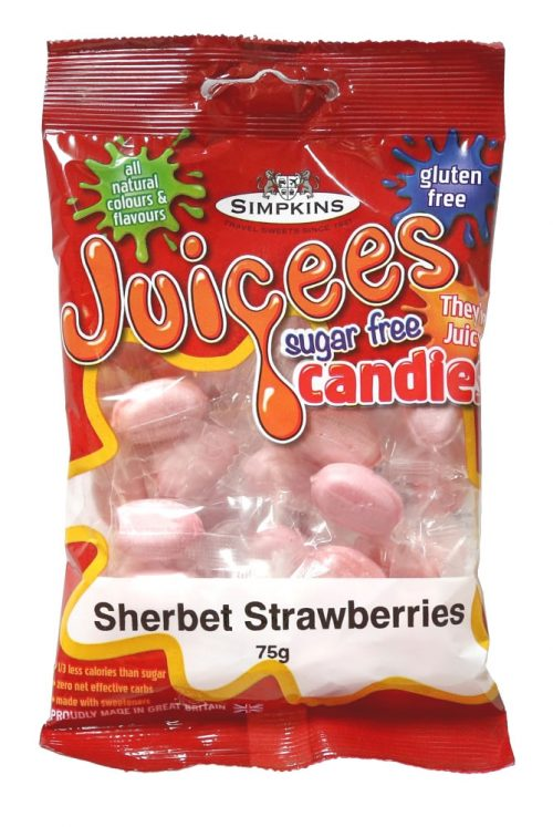 JUICEES Sugar Free Sherbert Strawberry