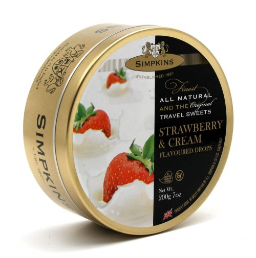 Simpkins Strawberry and Cream Travel Sweets