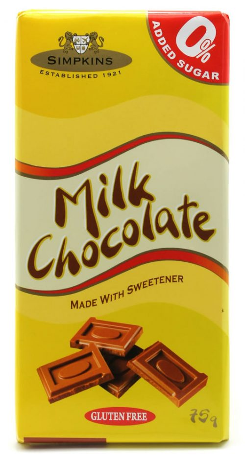 Simpkins No Added Sugar Milk Chocolate Bar