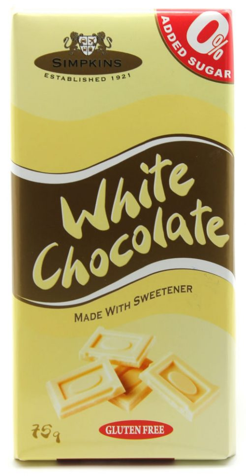 Simpkins No Added Sugar White Chocolate Bar