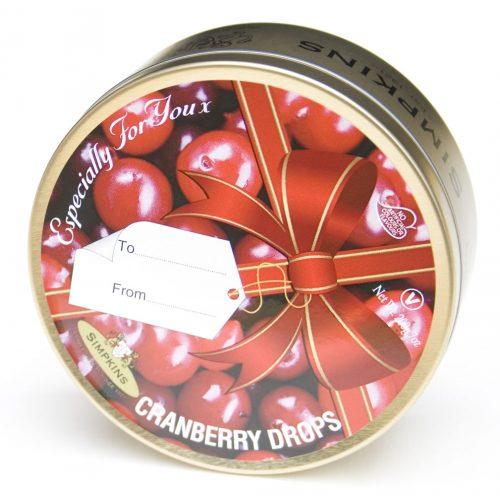 Cranberry Drops Ribbon Gift Tin