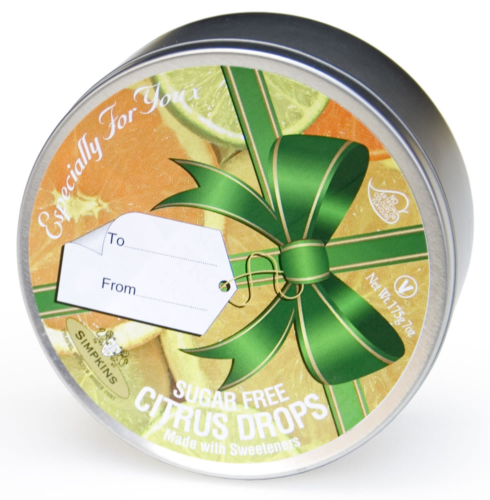 Sugar Free Citrus Ribbon Gift Tin