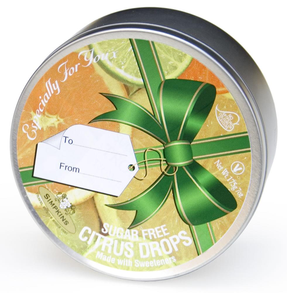 Sugar Free Citrus Ribbon Gift Tin
