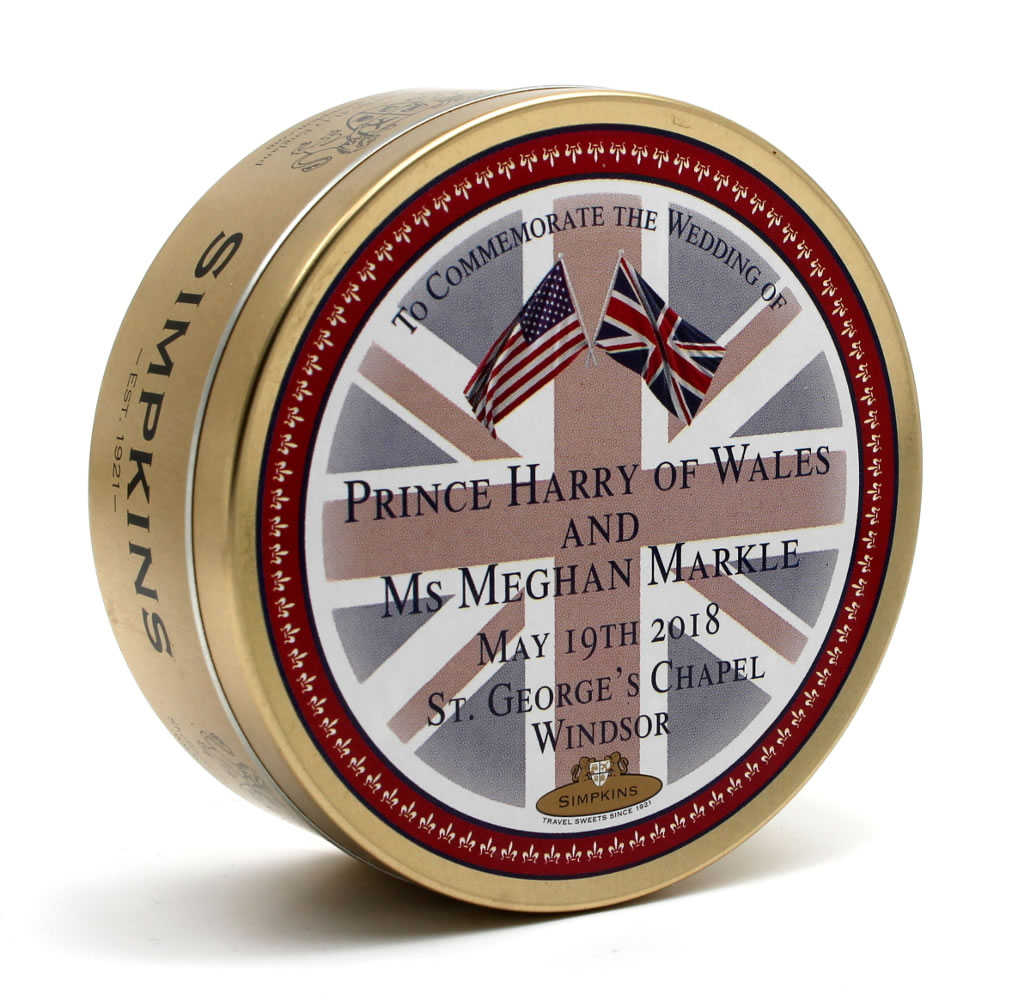 Prince Harry and Ms Meghan Markle Wedding Tin - Flags