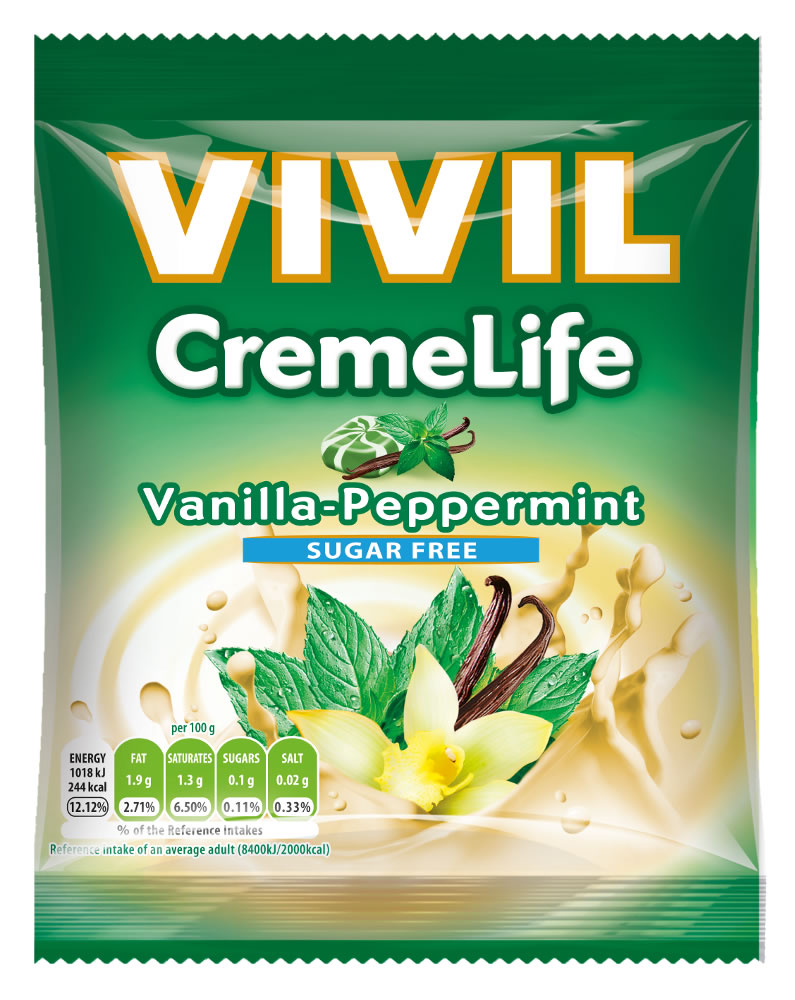 VIVIL Sugar Free Peppermint & Vanilla CrèmeLife